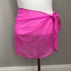 Pink Sheer Swimsuit Cover-Up Wrap OS